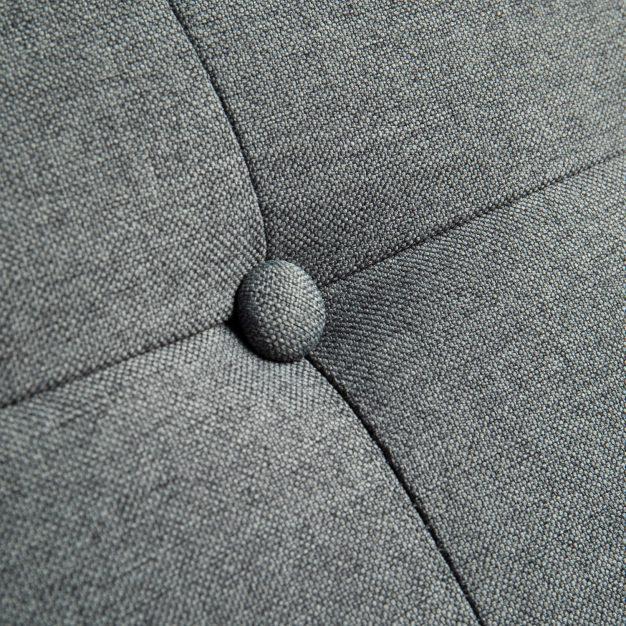 canapé lit lin gris foncé