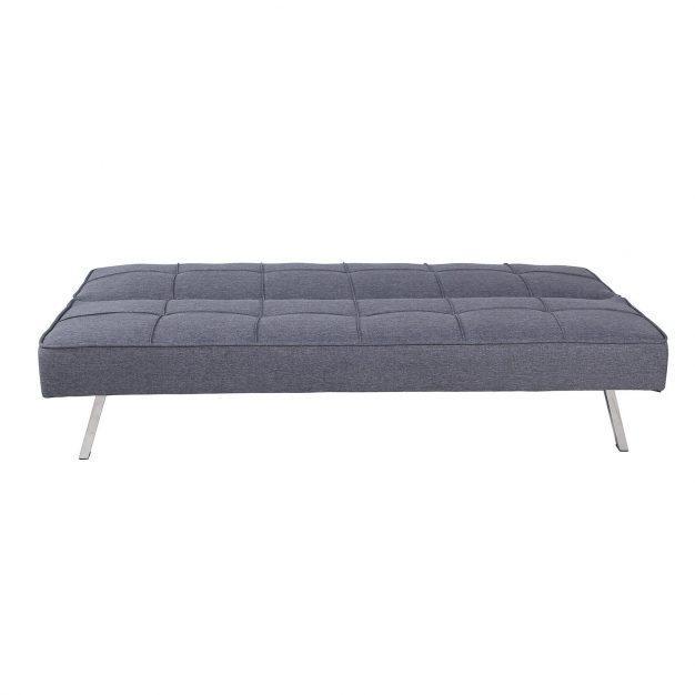canapé lit moderne capitonné gris
