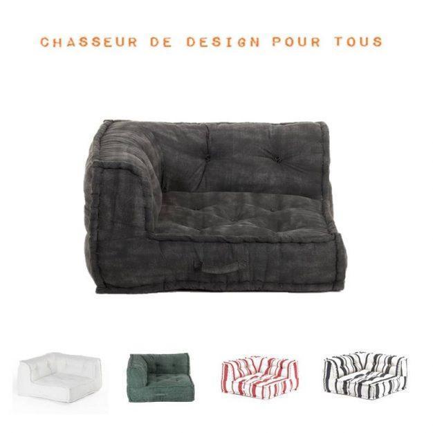 canapé d'angle modulable confortable 2 cotés