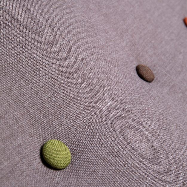 canapé tissé piqué boutons gris