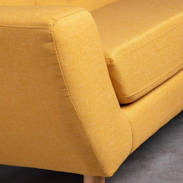 canapé jaune foncé nordique moderne