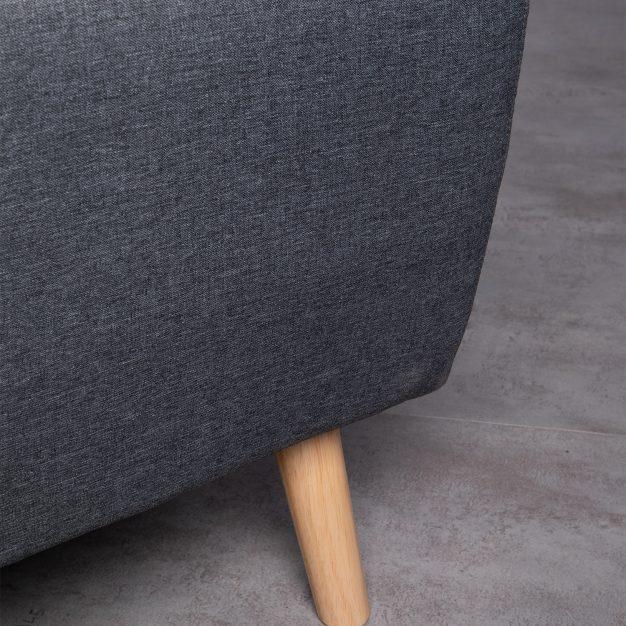 canapé pieds bois type scandinave
