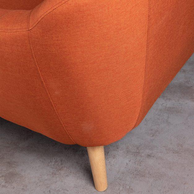 canapé lin bois qualité orange