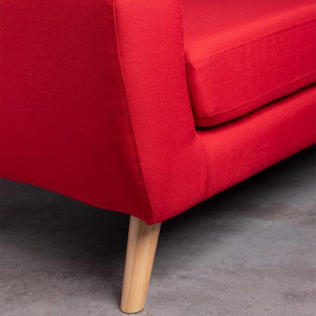 canapé piqué lin bois rouge
