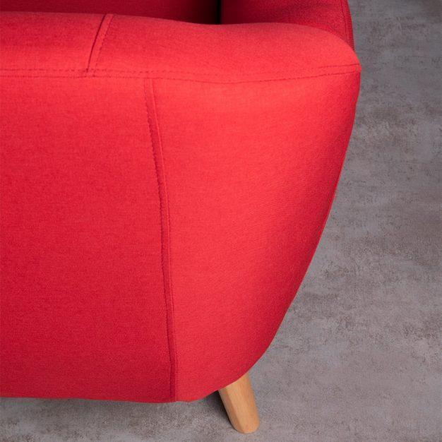 canapé nordique lin rouge moderne