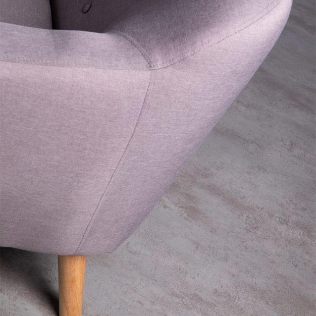 canapé pieds bois gris moderne