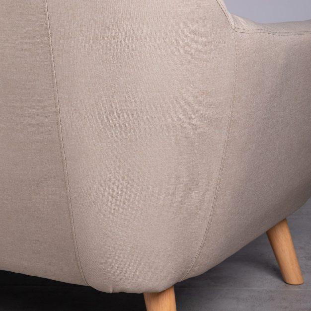 canapé robuste confortable gris clair