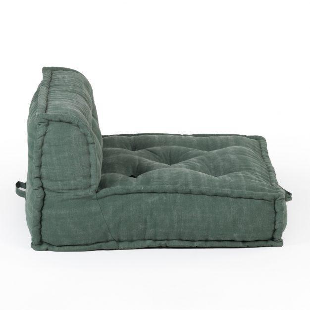 canapé lit sol vert foncé