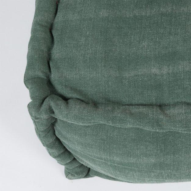 canapé matelassé catton vert foncé