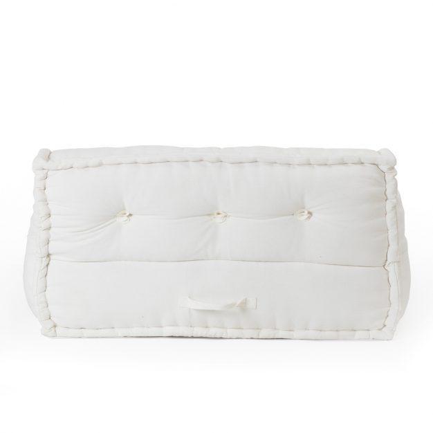 canapé coton matelassé modulable blanc