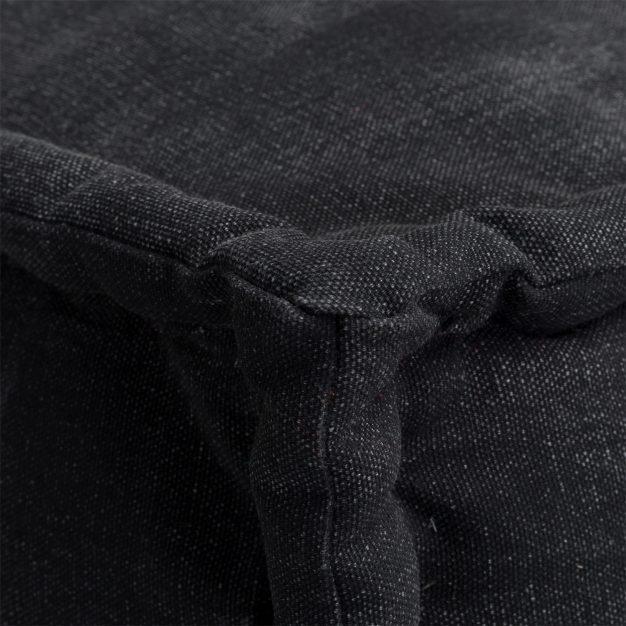canapé au sol personnalisable noir
