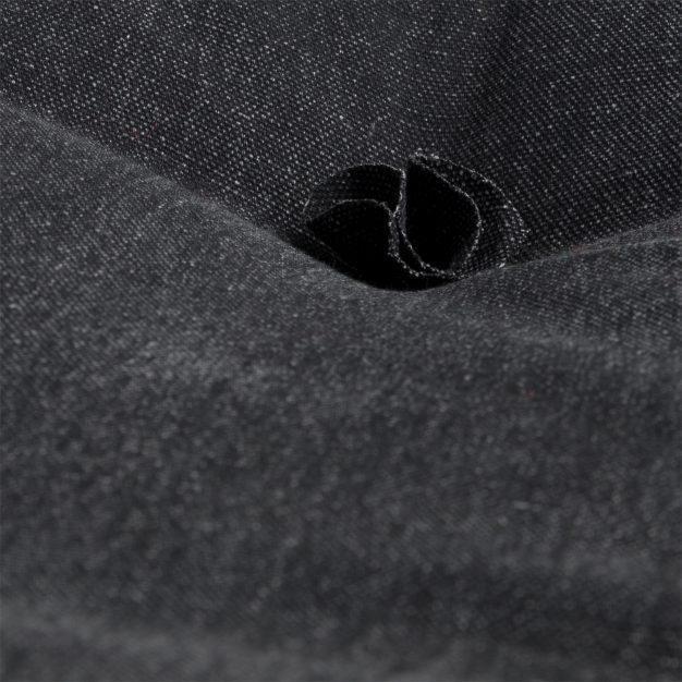 canapé fauteuil piqué noir vintage