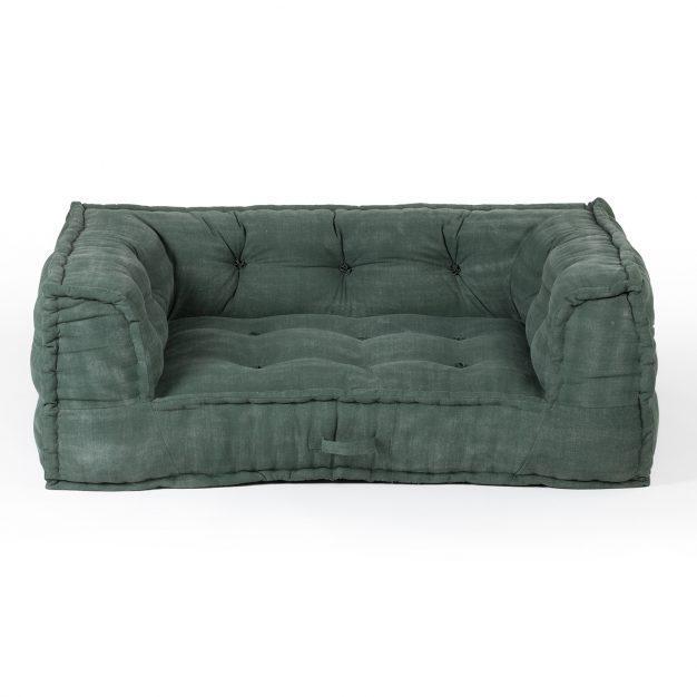 fauteuil modulable vert sapin matelassé