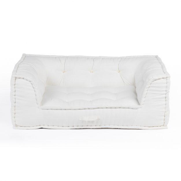fauteuil modulable matelassé blanc cassé