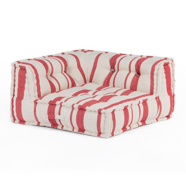fauteuil modulable matelassé cotton rayé