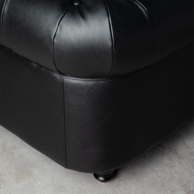 canapé robuste type anglais noir