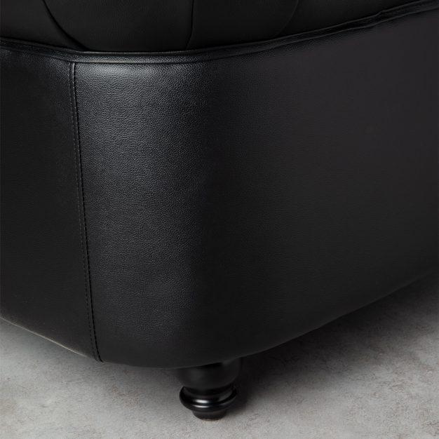 canapé cuir haute qualité sombre