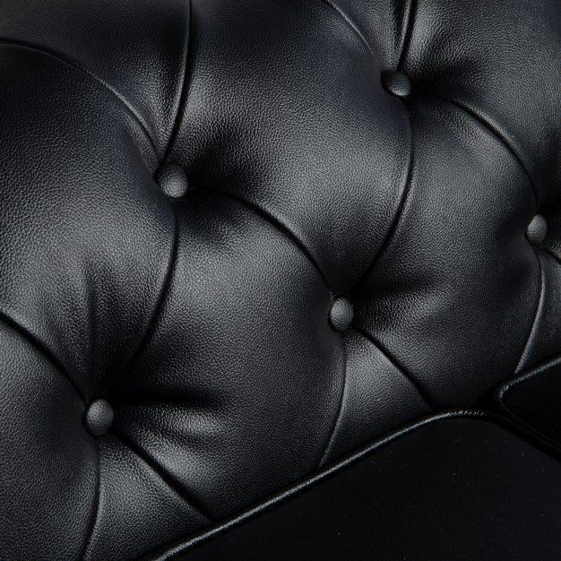 canapé cuir piqué anglais vintage