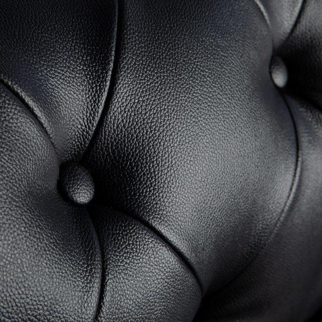 canapé cuir confortable vintage noir
