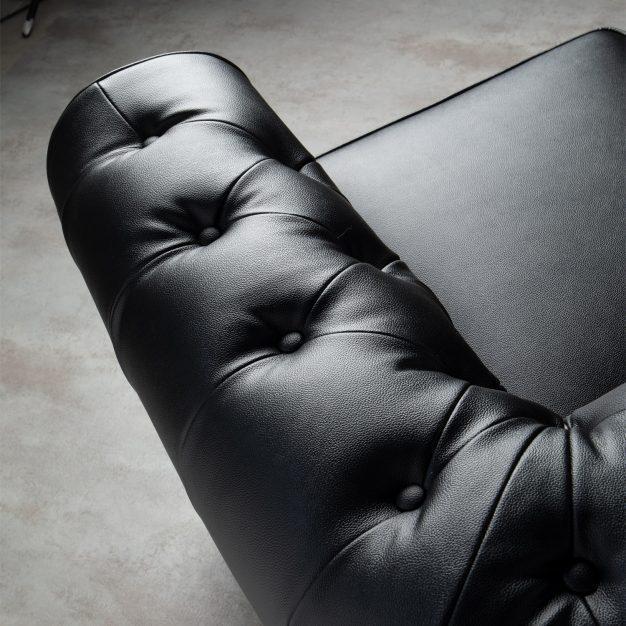 canapé accoudoirs confortable robuste noir