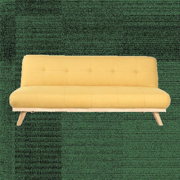 canapé scandinave jaune poussin lin
