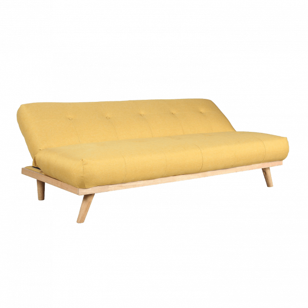 canapé modifiable jaune poussin lin