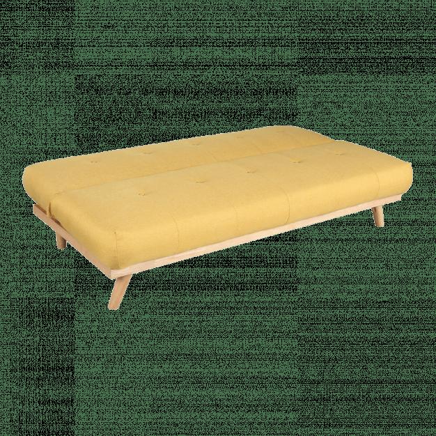 canapé transformable jaune bois clair