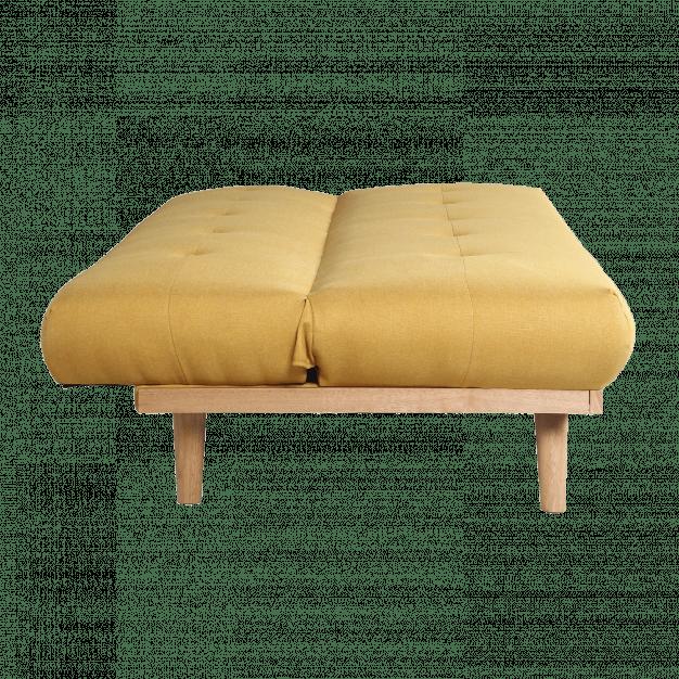 canapé transformable bois jaune clair