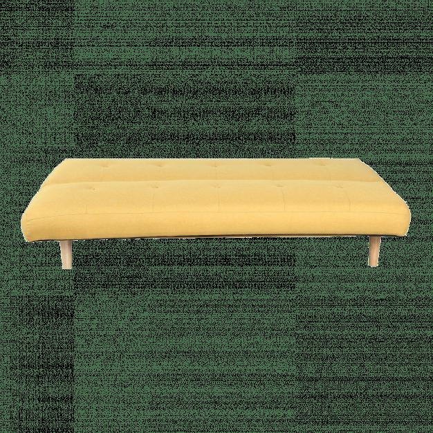 canapé modifiable jaune lin bois