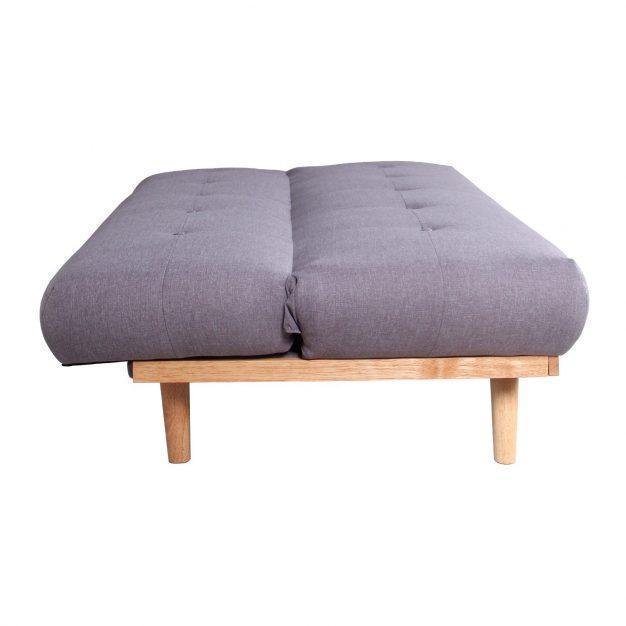 canapé scandinave gris lin bois