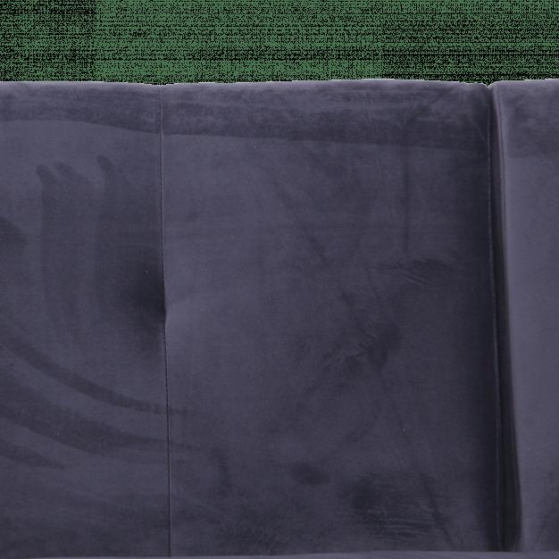 canapé velours gris foncé design