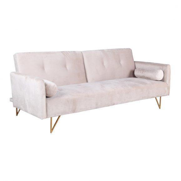 canapé lit blanc creme velours