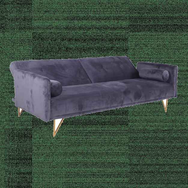 canapé lit design velours laiton