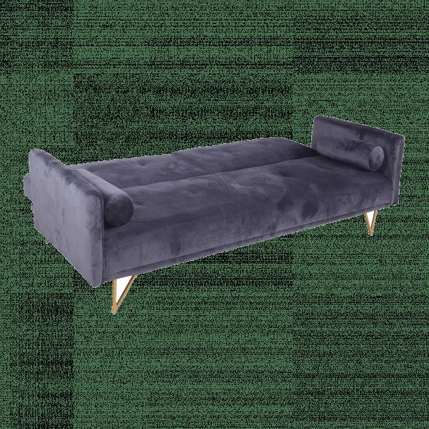 canapé modifiable velours gris confortable