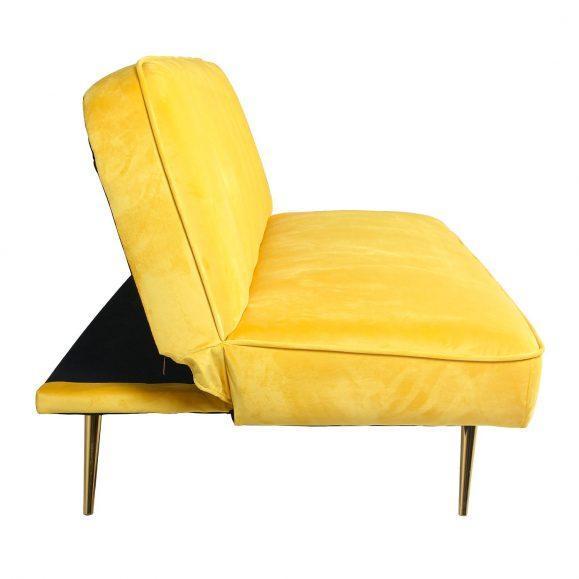 canapé lit jaune poussin laiton