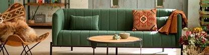 canapé tissu matelassé vert confortable bohême