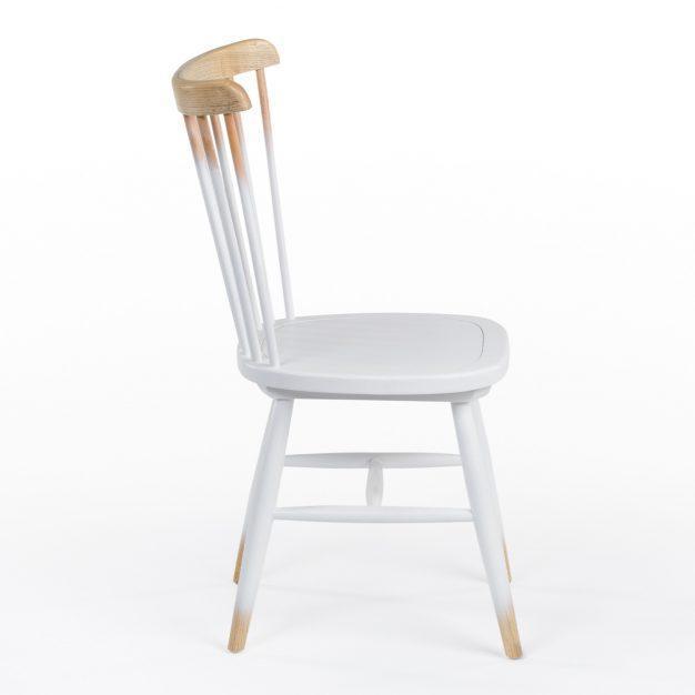 chaise scandinave couleurs bois dégradé