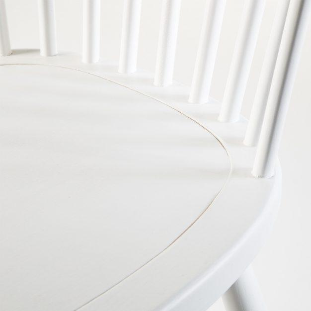 chaise contemporaine bois naturel blanche