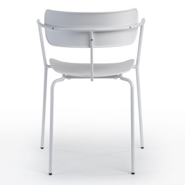 chaise industrielle bureau design blanche