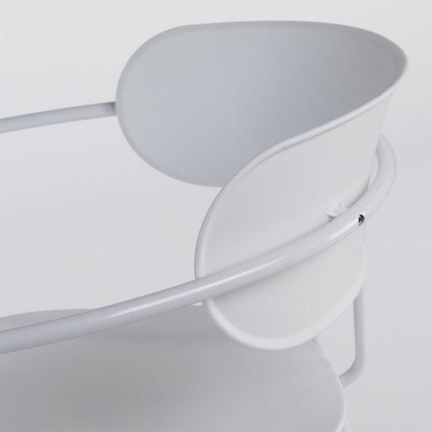 chaise industrielle haute qualité blanche