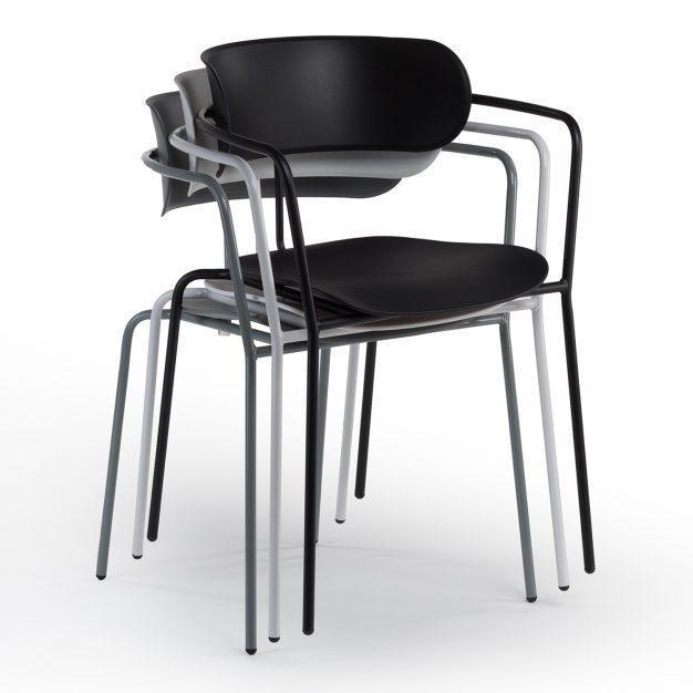 chaise pratique empilable bureau solide industrielle