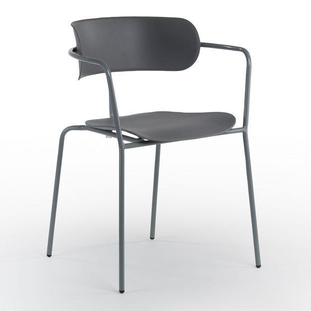 chaise gris souris type industrielle