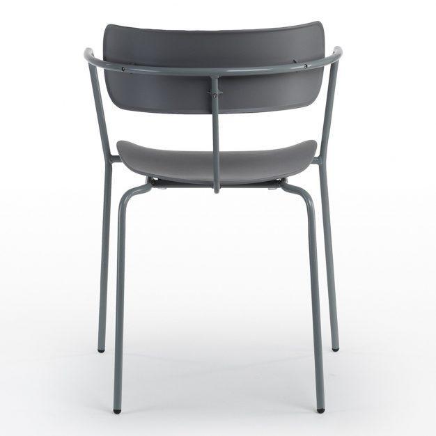 chaise bureau dossier accoudoirs grise