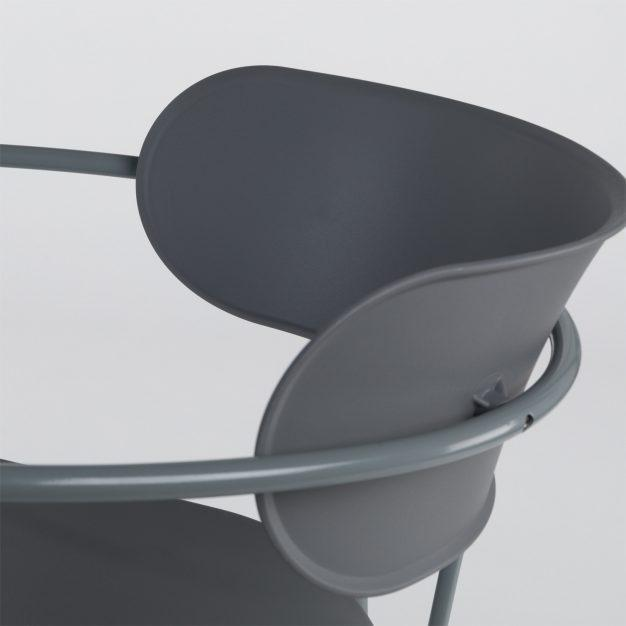 chaise solide bureau gris foncé