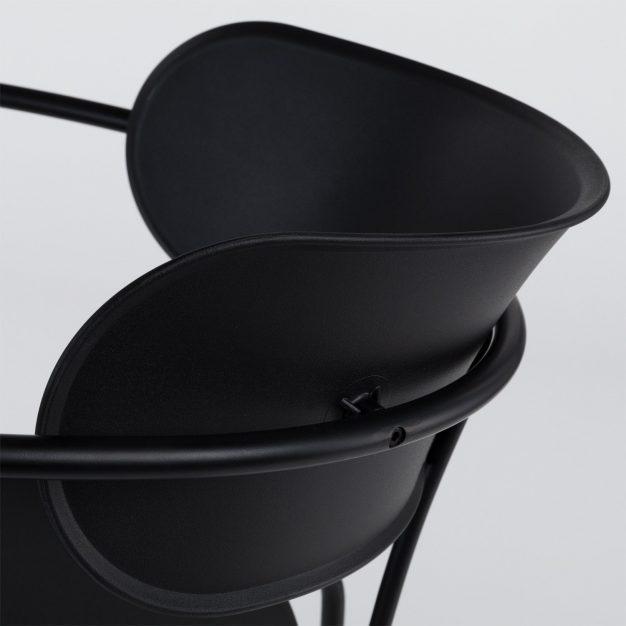 chaise acier assise simili cuir