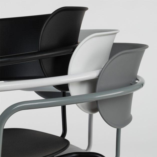 chaise empilable dossier réglable design couleurs