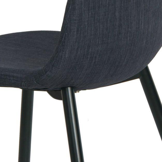 chaise design lin bleu marine