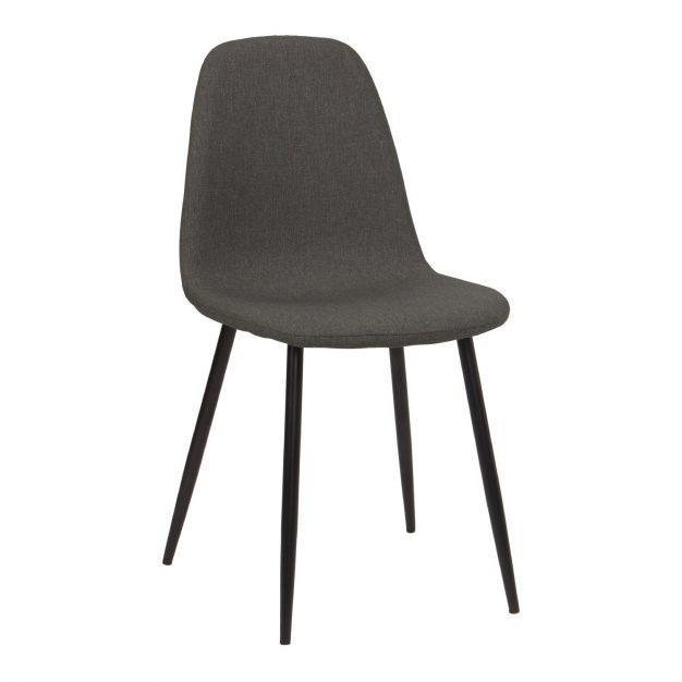 chaise lin moderne confortable grise