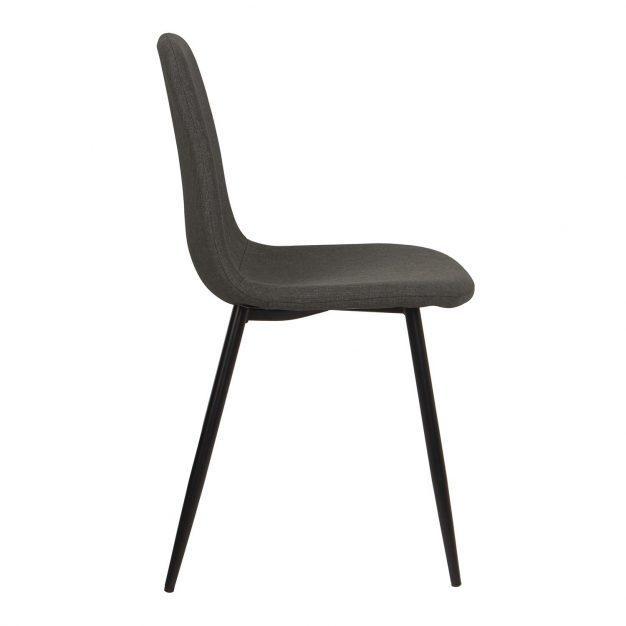 chaise lin gris souris design