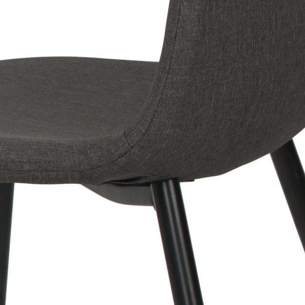 chaise en lin moderne grise
